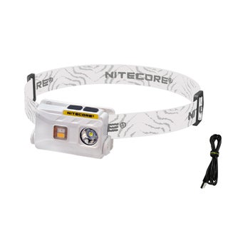 NITECORE NU25 360 lm Rechargeable Headlamp- White, Red, & CRI Outputs (Option: Waterproof - White)