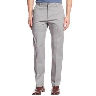 Calvin Klein Mens Dress Pants Sateen Straight Fit