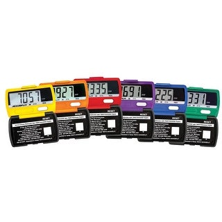 Accusplit AX2710-X6R Ultra Thin Rainbow Pedometers, Set of 6