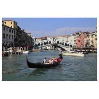 """""""Gondola at Venice, Veneto, Italy"""" Poster Print"""