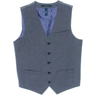 Perry Ellis Mens Pindot Adjustable Back Vest - L
