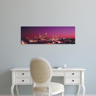 Easy Art Prints Panoramic Images's 'USA, Georgia, Atlanta, night' Premium Canvas Art