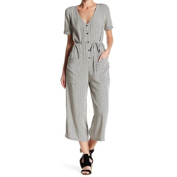 9999bc580ced Shop Dress Forum NEW Black Womens Size Medium M Crop-Leg Striped ...