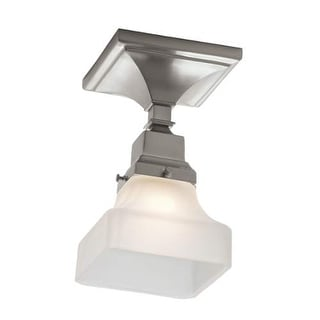 """Norwell Lighting 8121F Birmingham Single Light 5"""" Wide Flush Mount Ceiling Fixture with White Glass Shade"""
