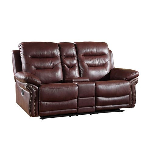 GU Industries Leather Air/Match Upholstered Living Room Recliner Loveseat