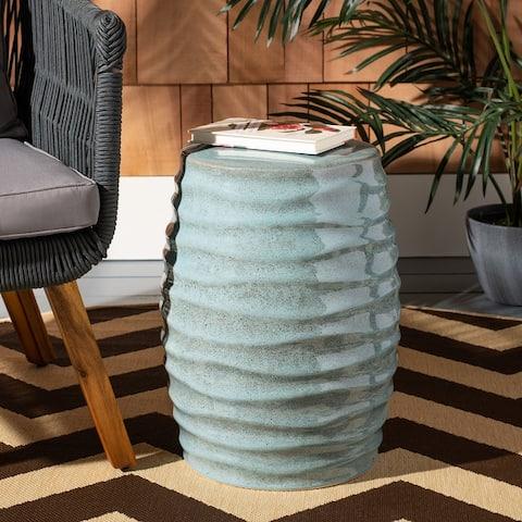 SAFAVIEH Kita Indoor / Outdoor Ceramic Decorative Garden Stool