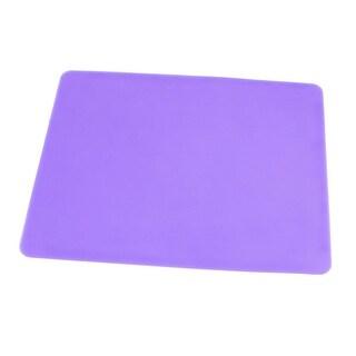 Unique Bargains Light Purple Silicone Optical Mouse Pad Mat 23cm x 19cm for PC Notebook