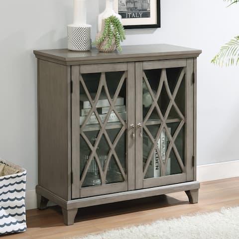 Furniture of America Lillianfeld Transitional Gray Hallway Cabinet