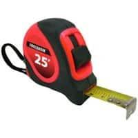 "Toolbasix 26-7.5X25-R Sae Neon Orange Tape Rule 25' x 1"""