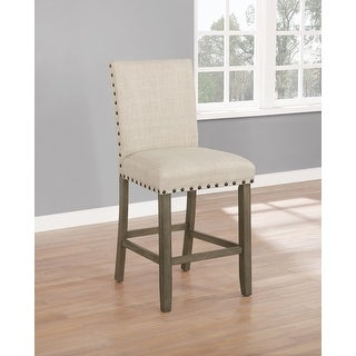 Link to Sundon Beige Upholstered Counter Height Stools (Set of 2) Similar Items in Dining Room & Bar Furniture