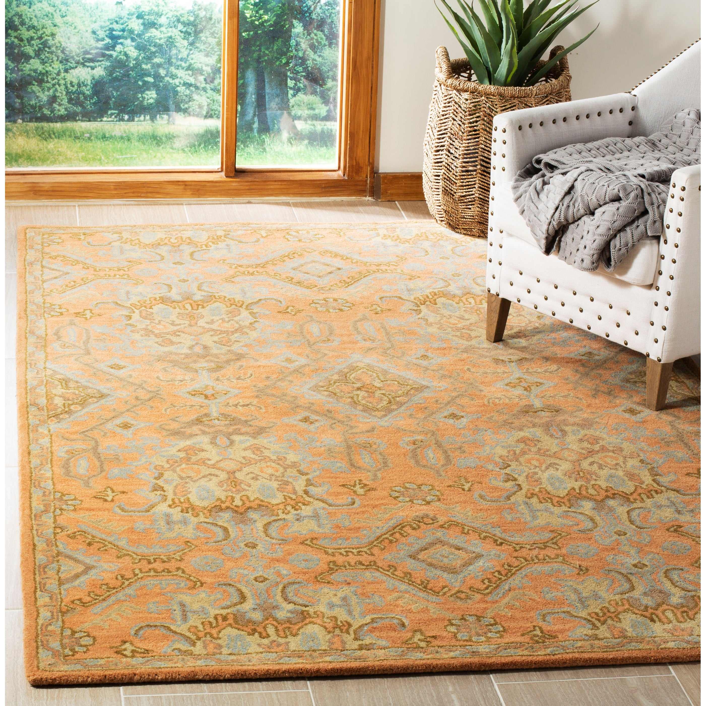 Safavieh Wyndham 4/' x 6/' Hand Tufted Wool Rug in Gray and Taupe