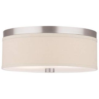 "Forecast Lighting F131836U 2 Light 15"" Wide Flush Mount Ceiling Fixture from the Embarcadero Collection - Satin Nickel"
