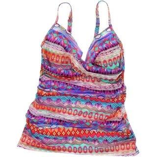 Gottex Womens Stretch Printed Tankini Swimsuit - 10