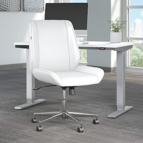 Bay Street Wingback Leather Office Chair by Bush Business Furniture