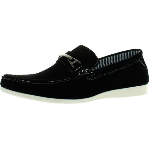 Coronado Men Casual Shoe Cody-2 Comfort Loafer Style With A Moc-Stitched Toe And Buckle Details
