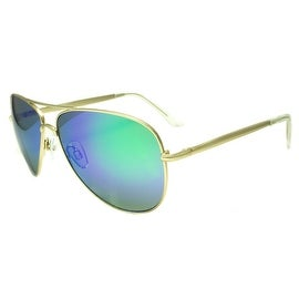 Classy New Shades Purple Green Lens Gold Frame On Sale