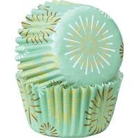 Burst Mint 100/pkg - Mini Baking Cups
