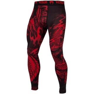 Venum Dragon's Flight Dry Tech MMA Compression Spats - Black/Red