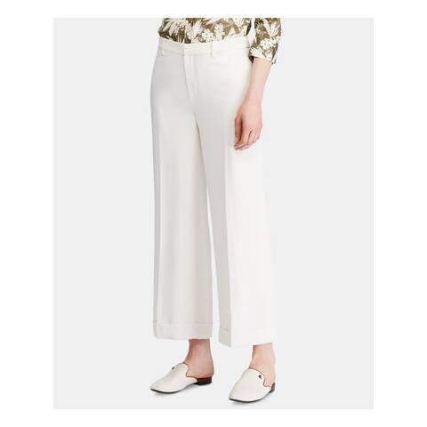 RALPH LAUREN Womens Ivory Wear To Work Pants Size 8