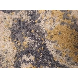Carson Carrington Vebenstad Ivory/Yellow Modern Radiante Area Rug