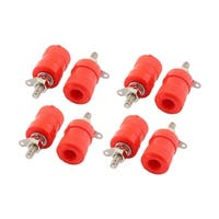 8pcs Red Binding Post Amplifier Audio Connector Terminal for 4mm Banana Plug