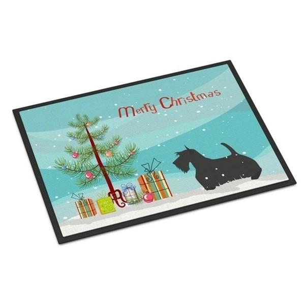 Carolines Treasures BB2987MAT Scottish Terrier Merry Christmas Tree Indoor or Outdoor Mat 18x27