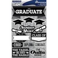 "Graduation - Signature Dimensional Stickers 4.5""X6"" Sheet"