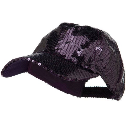 Shiny Sequin Baseball Cap - Purple W31S63D