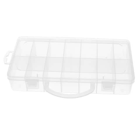 Plastic Rectangular 14 Slots Electronic Components Storage Box Case Container