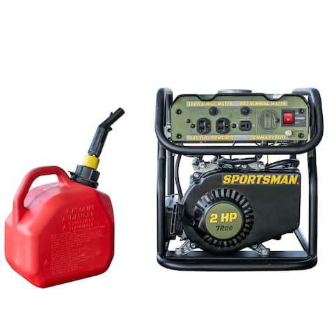 """16"""" Black and Red 1500 Surge Watts Portable Gasoline Generator"""