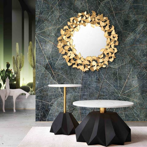 Silver Orchid Christy 27-inch Gold Mirror