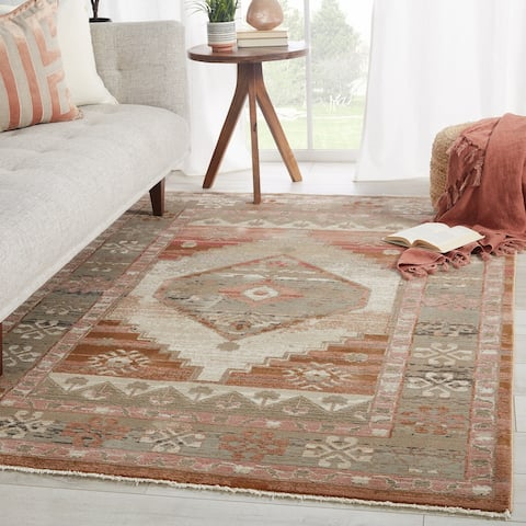 Vibe by Jaipur Living Constanza Medallion Blush/ Gray Area Rug