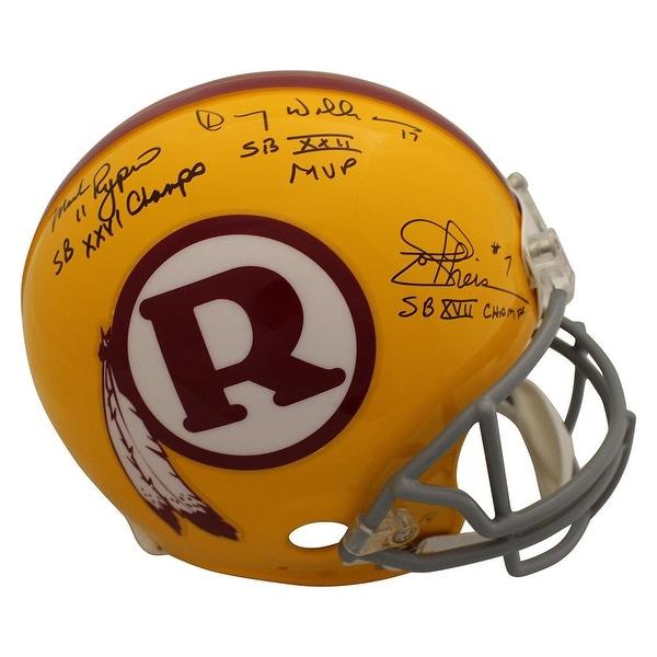 Top Shop Washington Redskins QB Autographed Authentic Helmet Rypien