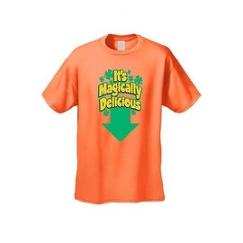 Men's Funny T-Shirt It's Magically Delicious Irish Plush St. Patrick Leprechun Humor