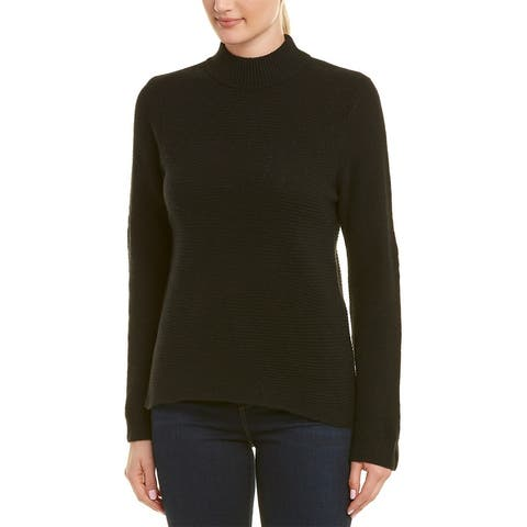 In Cashmere Mock Collar Cashmere Sweater