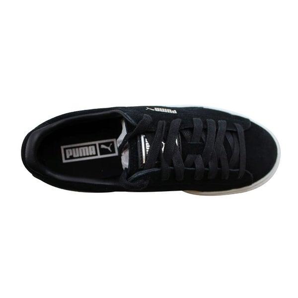 Shop Puma Suede Platform Puma BlackBlack White 362223 01