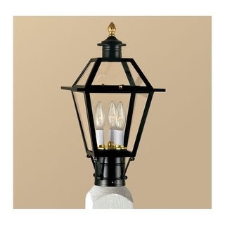 """Norwell Lighting 2234 Lexington 3 Light 17"""" Tall Outdoor Post Light with Clear Glass Shade"""