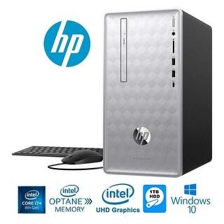 HP Pavilion 590 Intel Core i7+ 8700 6-Core 8GB+16GB Intel Optane 1TB HDD PC (Certified Refurbished)