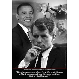 ''Robert F. Kennedy Prophetic Quote, 1968'' by Tonya Jones African American Art Print (19 x 13 in.)