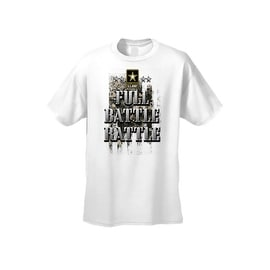 Men's T-Shirt Full Battle Rattle US Army Military Forces Camo Soldier Veterans Tee
