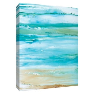 """PTM Images 9-148715  PTM Canvas Collection 10"""" x 8"""" - """"Coastal Abstract II"""" Giclee Abstract Art Print on Canvas"""