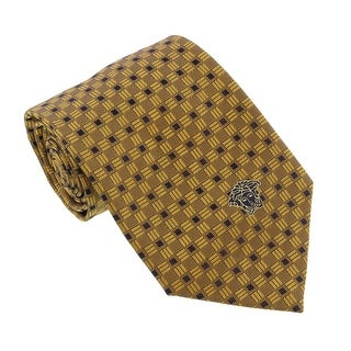Versace Yellow Woven Square Grid Tie
