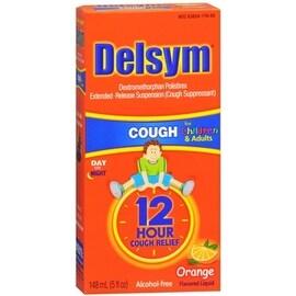 Delsym 12 Hour Cough Relief Children/Adults Orange 5 oz