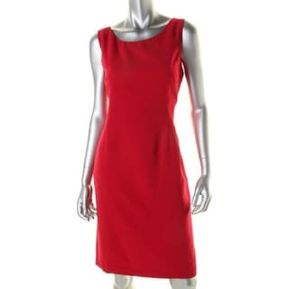 Kasper Womens Petites Solid Sleeveless Wear to Work Dress - 4P