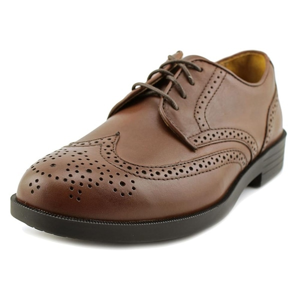 Drew Clayton Men N Round Toe Leather Brown Oxford