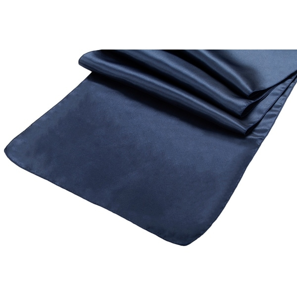 "Satin Table Runner Approx. 14""x108"" - Navy Blue, 1 Piece"
