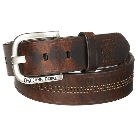 John Deere Men's 35Mm Belt, Brown, 44, Brown, Size 44