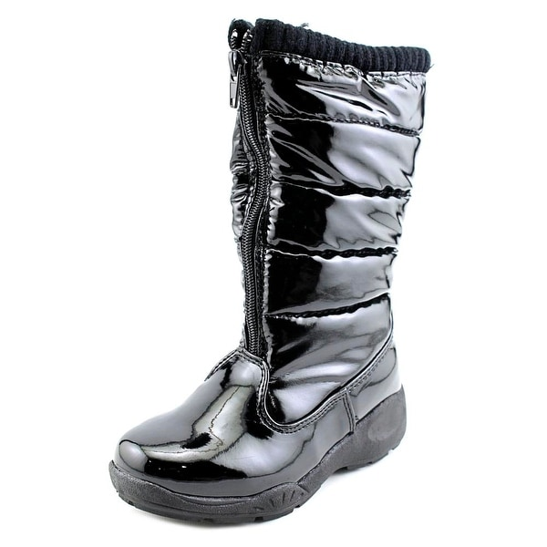 Tundra Puffy Youth Round Toe Synthetic Black Winter Boot