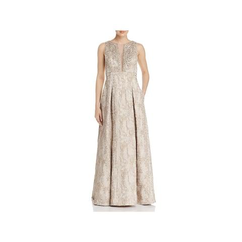 15cbbccbfc Eliza J Womens Formal Dress Metallic Embellished