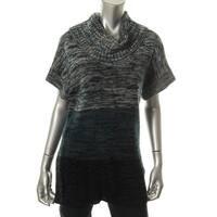 Karen Scott Womens Tunic Sweater Marled Knit - XL